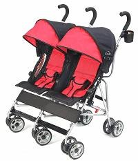 Kolcraft Cloud Lightweight and Compact Double Umbrella Stroller